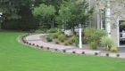 1-Belgard walkway with contrasting edge, granite steps and circle detail (1)