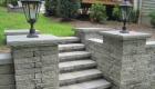 14-Techo Bloc Mini Creta Stairs and bluestone capped pillars (1)