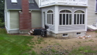 16-Formal bluestone patio with granite cobble edging (5)
