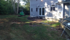 34-Complete backyard renovation with kitchen, waterfall, gas firepit, planting, landscape lighting, drainage and stairs. All walls and steps capped with custom cut bluestone (9)