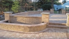 37-two tiered patio Unilock Brussels paver and block with series 3000 inlay (1)