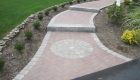4-Belgard walkway with contrasting edge, granite steps and circle detail (4)