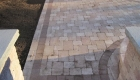 41-two tiered patio Unilock Brussels paver and block with series 3000 inlay (5)