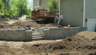 9-Backyard leveling using Techo Creta with bluestone capped pillars (3)