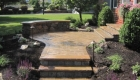 9-Cambridge ledgestone walkway with natural stone quarter wall and chrishna yellow cap (4)
