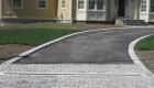 Granite cobble apron with drainage (2)